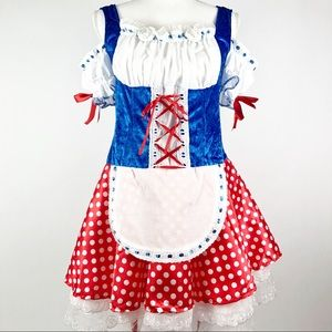 Halloween Costume Dress Maid Oktoberfest Apron